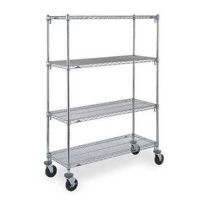 METRO CART 6A Adjustable Shelf Wire Cart,24 In. W