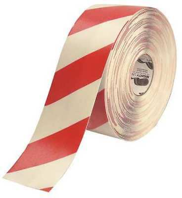 MIGHTYLINE 4RWCHVRED Ind Floor Tape, Roll, Red/White, Vinyl