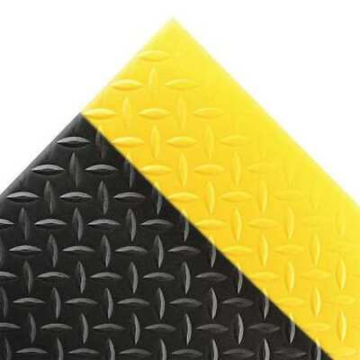 Antifatigue Mat,Black,YllwBrdr,3ft.x6ft. NOTRAX 419S0036BY