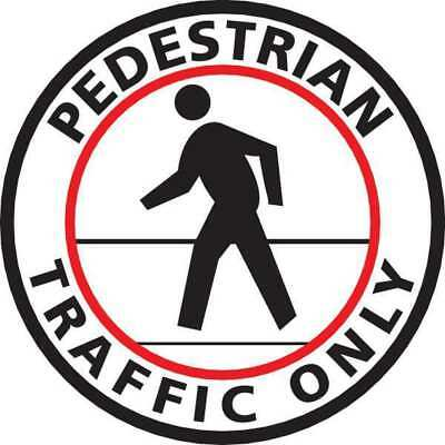 Floor Sign,Pedestrian Only,Red/White/Blk MIGHTY LINE PEDESTRIANW24