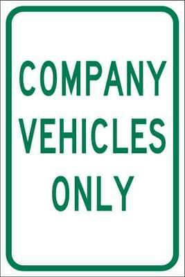 BRADY 103720 Traffic Sign,Company Vehicles Only,Text G9402644