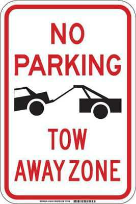 BRADY 103743 No Parking Sign,Tow Away Zone,18 in. H G9402687