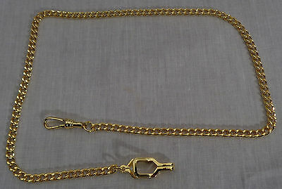 WHISTLE LINK CHAIN Gold-tone with Epaulet Clasp-uniform police/sheriff/constable