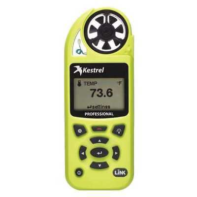 KESTREL 0852LHVG Environmental Meter,Hi-Vis Green w/WiFi G5233691
