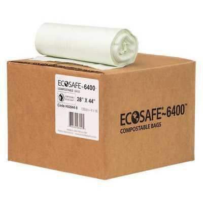 "ECOSAFE-6400 HB2844-8 Compostable Bag,35gal,0.85mil,28""W,PK135 G5489167"