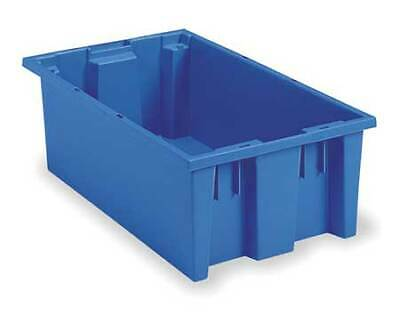 Nest and Stack Container, 19-1/2 in, Blue AKRO-MILS 35200BLUE