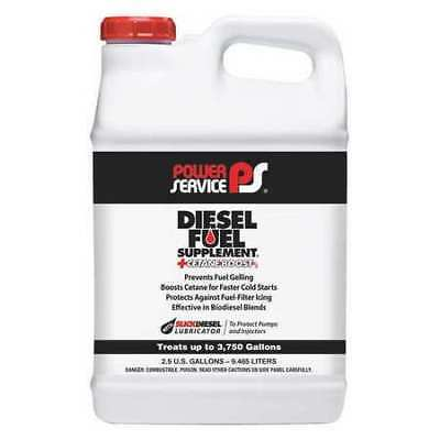 POWER SERVICE PRODUCTS 01050-02 Diesel Fuel Supplement, Amber, 2.5 gal.