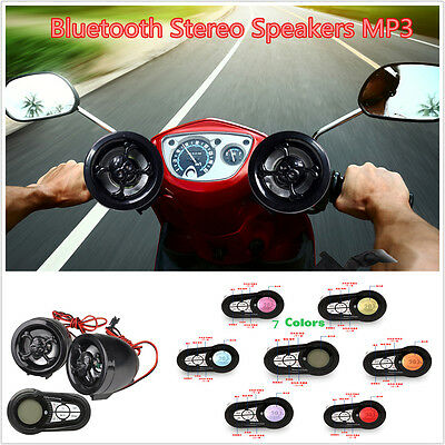 Motorcycle Bluetooth Audio Sound System MP3 USB Radio Stereo Speakers Waterproof