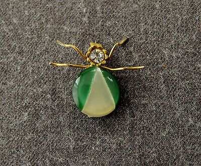 Vintage 50's Jeweled Rhinestone & Lucite Spider Pin