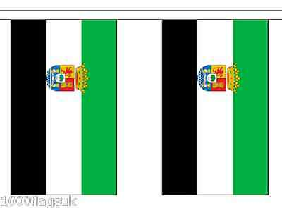 Spain Extremadura Polyester Flag Bunting - 6m long with 20 Flags