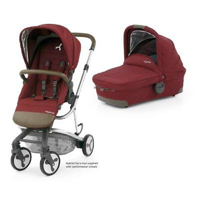 BabyStyle Hybrid City Pushchair with Carrycot (Lava Red)