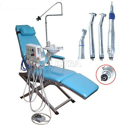 Portable Dental Folding Chair Unit Equipment + High Low Speed Handpiece DHL sale