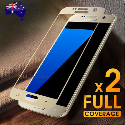2x For Samsung Galaxy S7 Screen Protector Full Coverage 9H Tempered Glass Guard