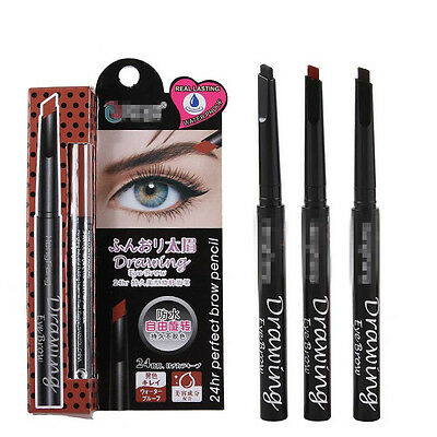Waterproof Eyebrow Pencils 24 Hours Long-Lasting 3 Color Drawing Eye Enhancer
