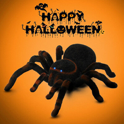 8'' Remote Control 4CH Realistic RC Spider Scary Toy Prank Holiday Gift Mod