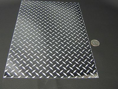 LongLife MINI Silver Diamond Plate Sign Vinyl  12 inch x 30 Feet, Self-adhesive