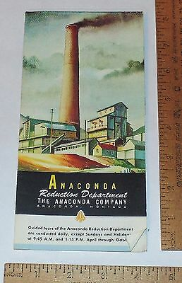 ANACONDA Reduction Department - ANACONDA, MONTANA - Tour Pamphlet