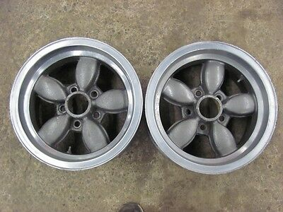 Vintage American Racing Coke Bottle 14X7 Wheels Rims Ford Mopar AMC 5X4.5 PAIR