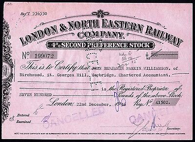 London & North Eastern Railway Co., 4% second pref. stock, 1936
