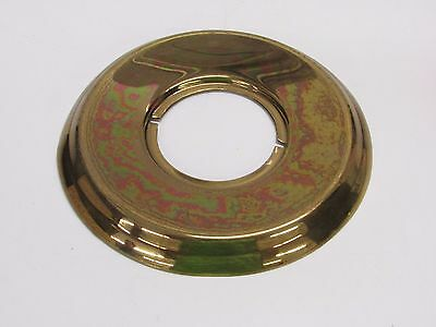 "VINTAGE Kwikset DOOR ESCUTCHEON 5-5/8"" Diameter, fin: BRASS, NEW WITH FLAWS"