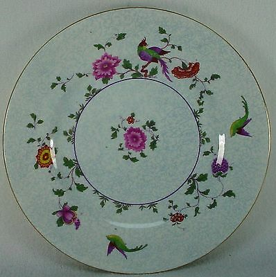 CROWN STAFFORDSHIRE china BIRD OF PARADISE F8393 pattern DINNER PLATE 10-1/2""