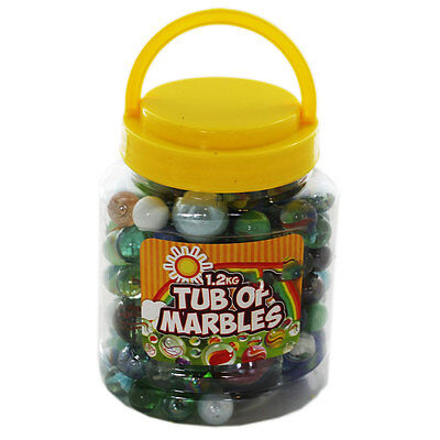 Tub Of Marbles - 1.2 Kg, Toys & Games, Brand New