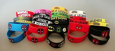 Marvel Comics Batman Spiderman Silicone Wristbands 3D Bracelet Baller Band Logo