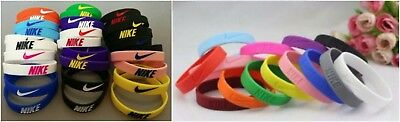 Sports Silicone Wristband 3D Nike Bracelet Baller Embossed Logo Swoosh Mix Color