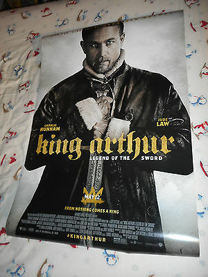 "Charlie Hunnam KING ARTHUR LEGEND OF THE SWORD movie poster one sheet DS 27""x40"""