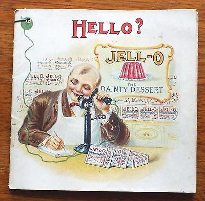 Old Antique JELL-O Genesee Pure Food Co. RECIPE BOOKLET Advertising TELEPHONE