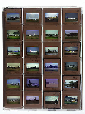 24 x Original 35mm Slides in Plastic Protective Case - Various Aircraft - LOT 22