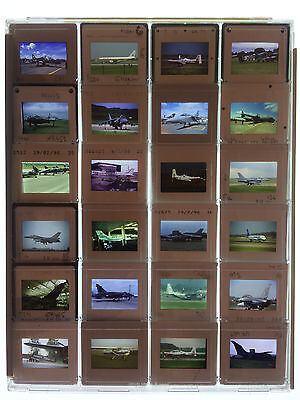 24 x Original 35mm Slides in Plastic Protective Case - Various Aircraft - LOT 18