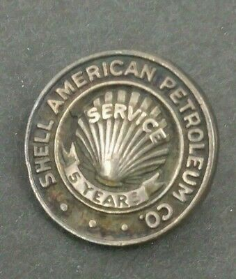 Rare Early Shell American Petroleum Co. 5 Years Silver Service Pin M.A.C NY