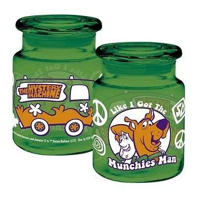 Scooby-Doo Like I Got The Munchies Man Apothecary Style Glass Jar with Lid NEW
