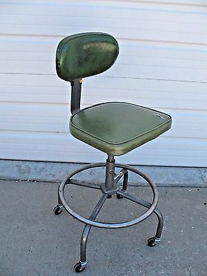 Vintage 50s Architectural Industrial Age CRAMER AIR FLOW Drafting Stool / Chair
