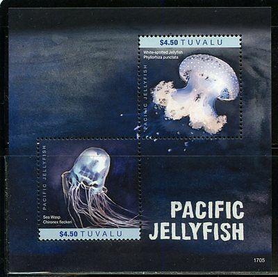 Tuvalu  2017 Pacific Jellyfish Souvenir Sheet   Mint Nh
