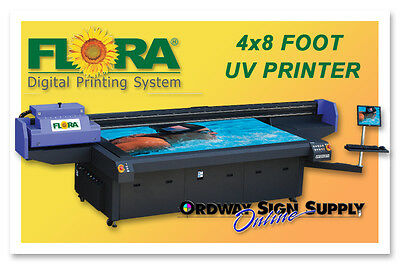 Flora 4' x 8' UV CMYK Large Image Format Flatbed Printer