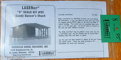American Model Builders, Inc S #95 Gandy Dancer's Shack (Laser Wood  Kit)