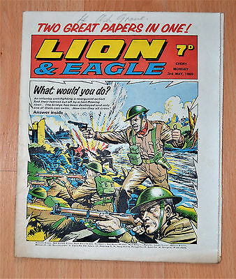 Lion & Eagle UK Comic FIRST EDITION 3rd May 1969 Lion & Eagle Merged Vol. 1 #1