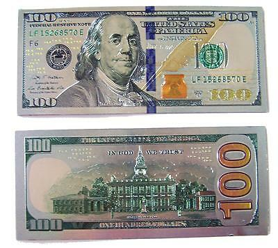large HEAVY METAL FOIL $100 DOLLAR BILL MAGNET novelty magnets money magnetic