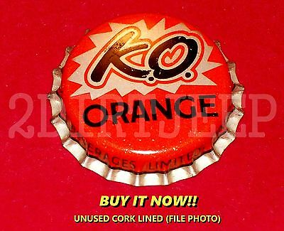 K.O. KNOCK OUT ORANGE FLAVORED SODA VINTAGE POW POP CORK UNUSED BOTTLE CAP 30d