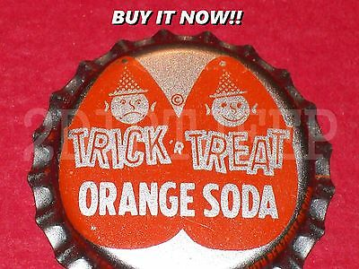 TRICK 'R TREAT ORANGE SODA PUPPET HEAD BUY NOW P/L UNUSED DRINK BOTTLE CAP 30d