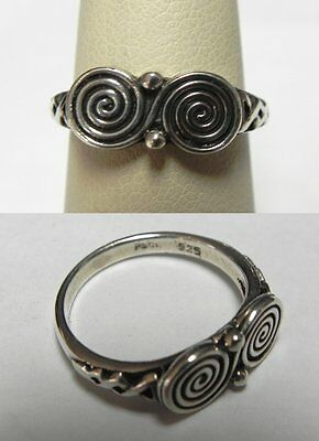 PS9 PSCL Signed PETER STONE Ladies Sterling Celtic Ring Band Sz 6.25