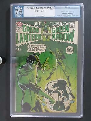 Green Lantern #76 - PGX 7.5 VF- DC 1970 - 1st Green Lantern/Arrow - Neal Adams!