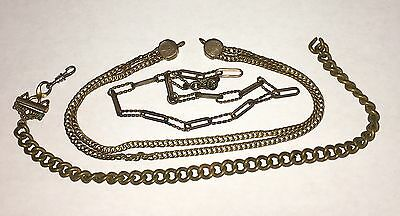 "3 Antique Link 11 1/2"" Watch Chains Chain"