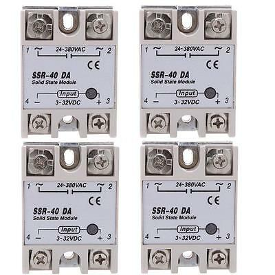 4PCS 24V-380V 40A SSR-40 DA Solid State Relay Module for Temp Controller Tool