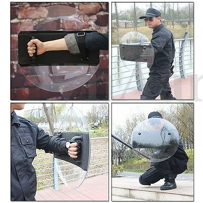 PC Round Anti-Riot Shield Polycarbonate Safety Protection For Police Tactical CS