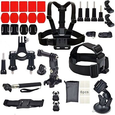 GoPro Accessories Kit for GoPro HERO session/5/4/3+/3/2/1 Cameras