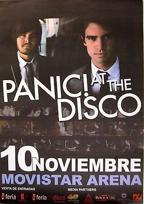 PANIC! AT THE DISCO 2009 SANTIAGO, CHILE CONCERT TOUR POSTER - Duo Standing