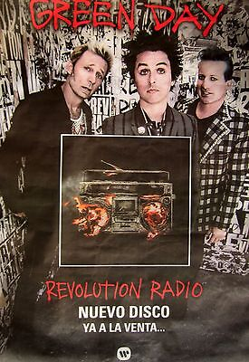 "Green Day ""revolution Radio - Nuevo Disco"" Large Promo Subway Poster From Chile"